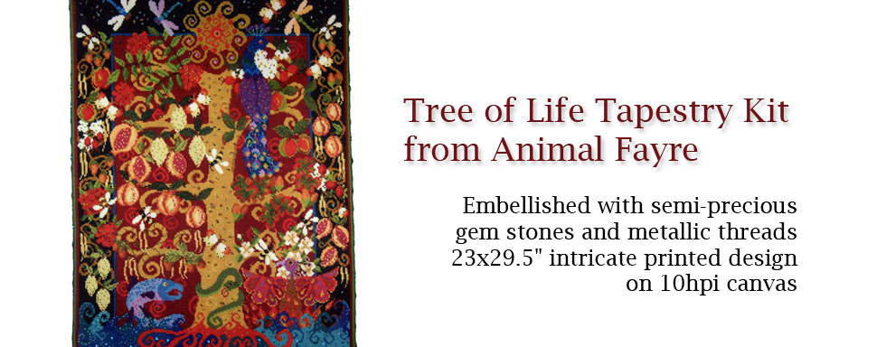 Tree of Life Tapestry Kit from Animal Fayre