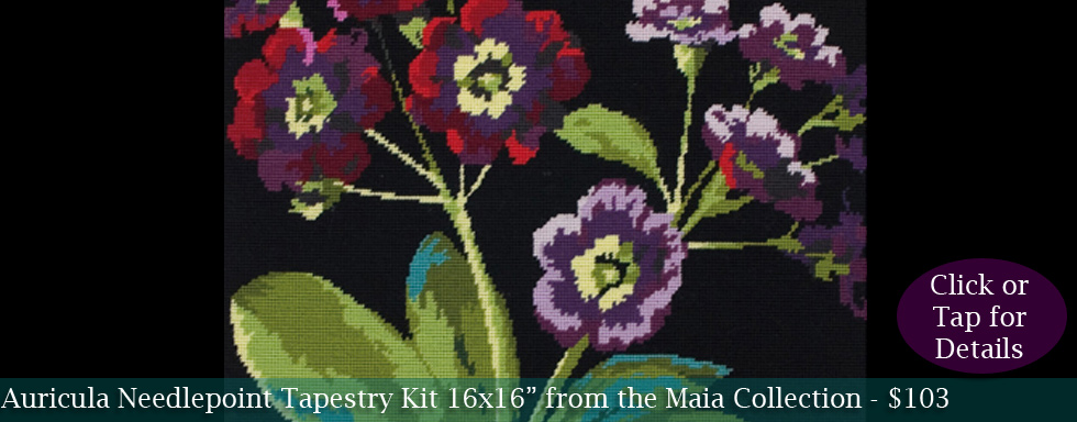 Auricula Tapestry Kit from Maia