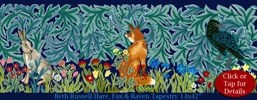 William Morris Forest Trio Hare, Fox and Raven from Beth Russell