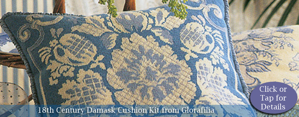 18th Century Damask Cushion Kit