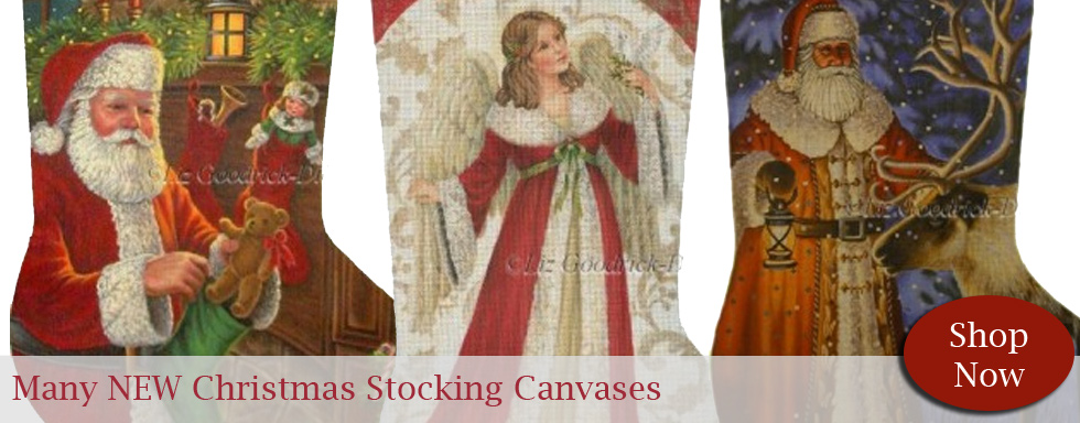 Large Christmas Stocking Canvases