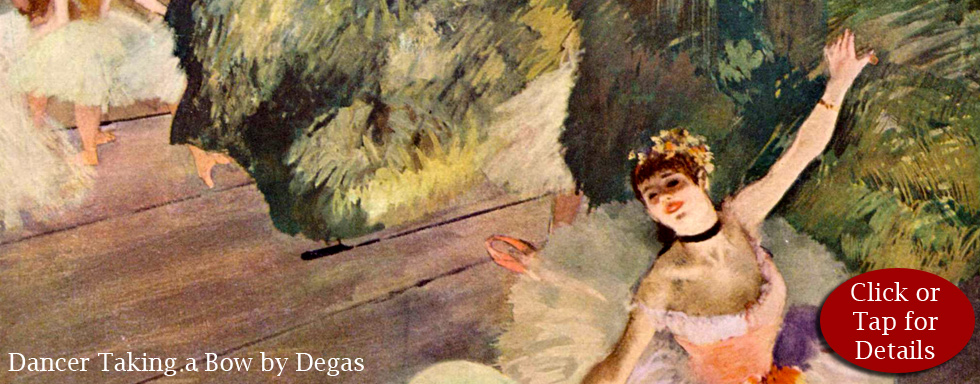 Dancer Taking a Bow by Degas