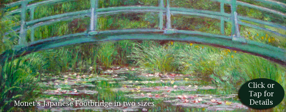 Japanese Footbridge by Monet