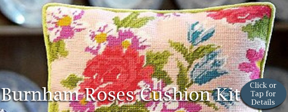 Burnham Roses Cushion Kit from Millennia Designs