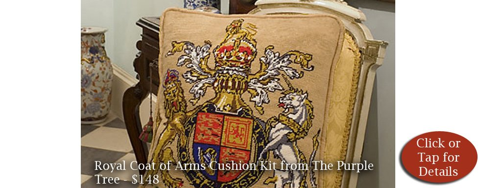 Royal Crest Cushion Kit from The Purple Tree