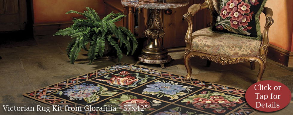 Victorian Rug Kit from Glorafilia
