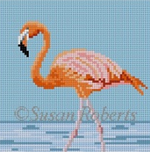 Susan Roberts Needlepoint Designs - Flamingo Coaster