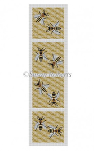 Susan Roberts Needlepoint Designs - Bees Coasters - 4 Pieces