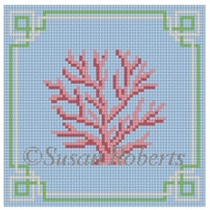 Susan Roberts Needlepoint Designs - Coral Coaster