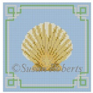 Susan Roberts Needlepoint Designs - Scallop Coaster