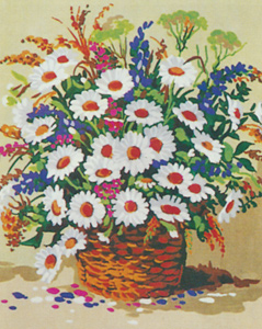 Flower Basket  - Collection d'Art Needlepoint Canvas