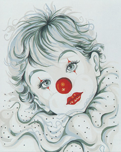 Starry Eyed Clown  - Collection d'Art Needlepoint Canvas