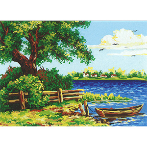 Summer on the Lake  - Collection d'Art Needlepoint Canvas