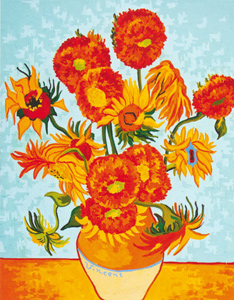 Sunflowers- Van Gogh  - Collection d'Art Needlepoint Canvas
