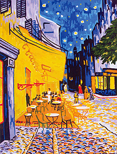 The Cafe Terrace- Van Gogh  - Collection d'Art Needlepoint Canvas