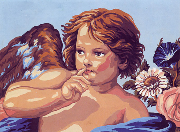 Cherub  - Collection d'Art Needlepoint Canvas