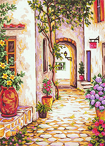 The Pathway  - Collection d'Art Needlepoint Canvas