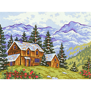 The Mountain Home II  - Collection d'Art Needlepoint Canvas