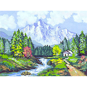 Mountain Stream  - Collection d'Art Needlepoint Canvas