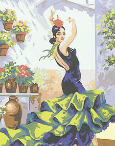 Spanish Dancer  - Collection d'Art Needlepoint Canvas
