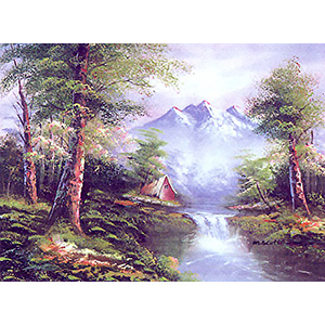 Morning Mist  - Collection d'Art Needlepoint Canvas