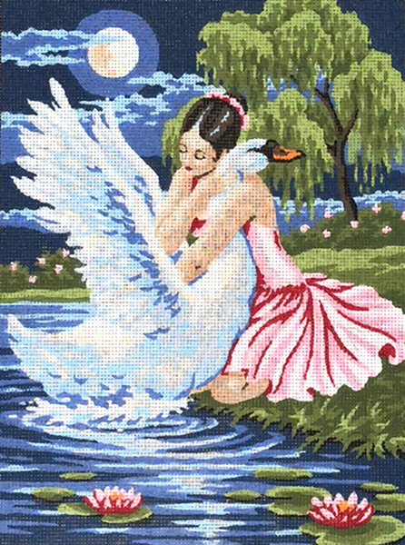 Dancer & the Swan  - Collection d'Art Needlepoint Canvas