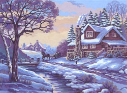 Winter   - Collection d'Art Needlepoint Canvas