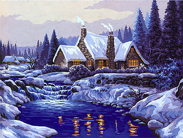 Winter Majesty  - Collection d'Art Needlepoint Canvas