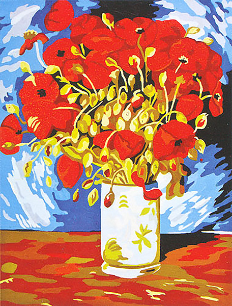 Poppies- Van Gogh  - Collection d'Art Needlepoint Canvas