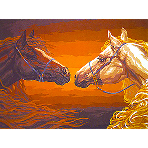 Sunset Meeting  - Collection d'Art Needlepoint Canvas