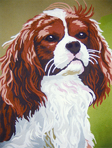 King Charles Spaniel  - Collection d'Art Needlepoint Canvas