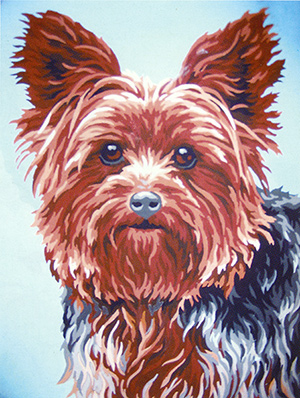 Yorkie  - Collection d'Art Needlepoint Canvas