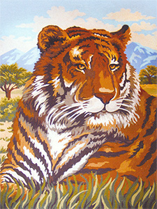 The Tiger  - Collection d'Art Needlepoint Canvas