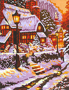 Winter in the City  - Collection d'Art Needlepoint Canvas