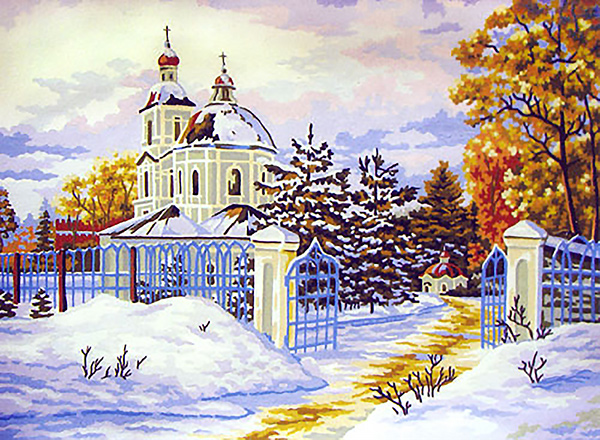 Needlepointus World Class Needlepoint Russian Church
