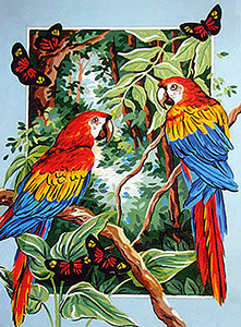 Macaws  - Collection d'Art Needlepoint Canvas
