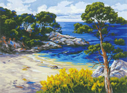The Private Cove - Collection d'Art Needlepoint Canvas