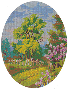 SummerScene Cameo - Collection d'Art Needlepoint Canvas
