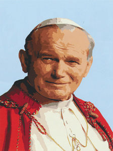 Pope John Paul II  - Collection d'Art Needlepoint Canvas