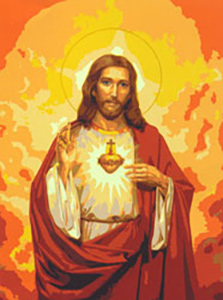 Sacred Heart of Jesus  - Collection d'Art Needlepoint Canvas