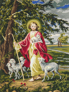 Jesus the Loving Shepherd - Collection d'Art Needlepoint Canvas