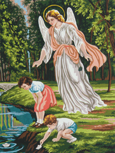 Guardian Angel - Collection d'Art Needlepoint Canvas