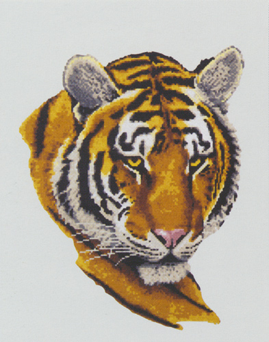 Tiger Portrait  - Collection d'Art Needlepoint Canvas