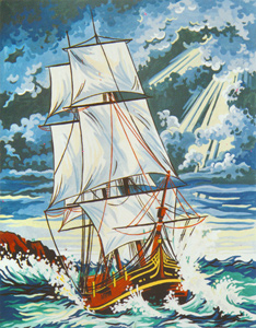 Stormy Seas - Collection d'Art Needlepoint Canvas