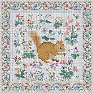 Susan Roberts Needlepoint Designs - Cluny Squirrel