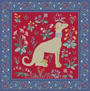 Susan Roberts Needlepoint Designs - Cluny Dog Red