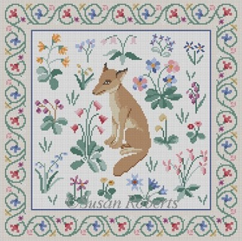 Susan Roberts Needlepoint Designs - Cluny Fox