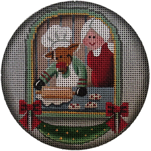 Christmas Cookies Hand Painted Christmas Ornament Canvas from Rebecca Wood