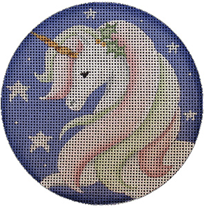 She Unicorn Hand Painted Christmas Ornament Canvas from Rebecca Wood