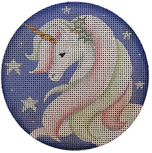 He Unicorn Hand Painted Christmas Ornament Canvas from Rebecca Wood